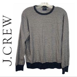 J. Crew Men's Cotton Linen Blend Crewneck Sweater